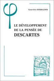 Cover of: Le développement de la pensée de Descartes