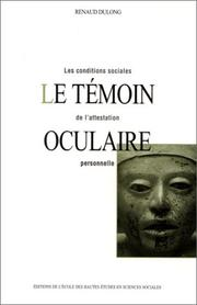 Cover of: Le témoin oculaire