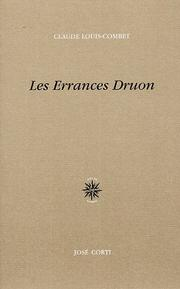 Cover of: Les errances Druon