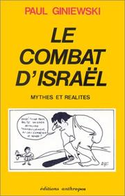 Cover of: Le combat d'Israël