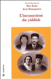 Cover of: L'inconscient du yiddish