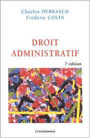 Droit administratif by Charles Debbasch