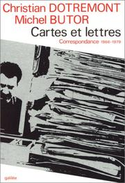 Cover of: Cartes et lettres