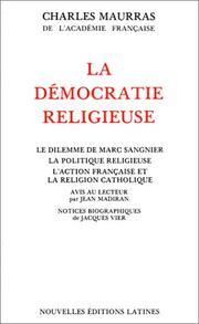 Cover of: La démocratie religieuse
