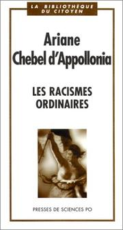 Cover of: Les  racismes ordinaires