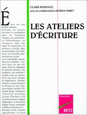 Cover of: Les ateliers d'écriture