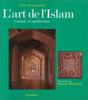 Cover of: L' art de l'islam