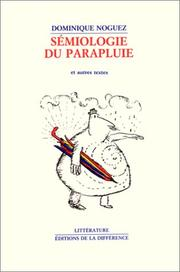 Cover of: Sémiologie du parapluie