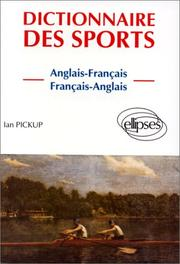 Cover of: Dictionnaire Des Sports = Dictionary of Sport | Ian Pickup