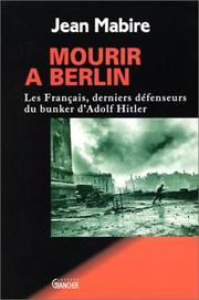 Cover of: Mourir à Berlin