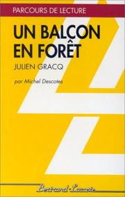 Cover of: Un balcon en forêt