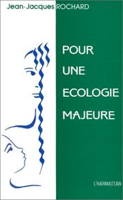 Cover of: Pour une écologie majeure