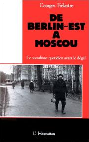 Cover of: De Berlin-Est à Moscou