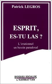 Cover of: Esprit, es-tu las?