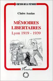 Cover of: Mémoires libertaires