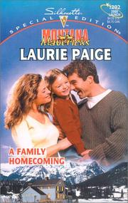 Cover of: A Family Homecoming (Montana Mavericks: Return To Whitehorn) | Laurie Paige