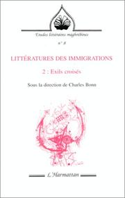 Cover of: Littératures des immigrations