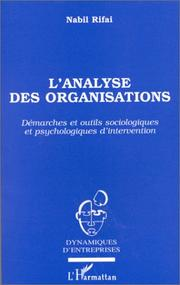 Cover of: L' analyse des organisations
