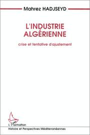 Cover of: L' industrie algérienne