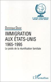 Cover of: Immigration aux Etats-Unis, 1965-1995