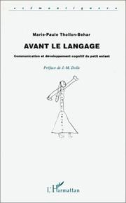 Cover of: Avant le langage
