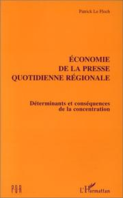 Cover of: Economie de la presse quotidienne régionale