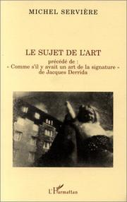 Cover of: Le sujet de l'art