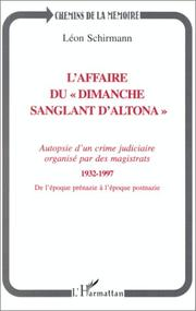 "Cover of: L' affaire du ""dimanche sanglant d'Altona,"" 1932-1997"