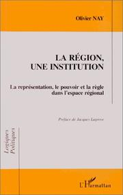 Cover of: La région, une institution