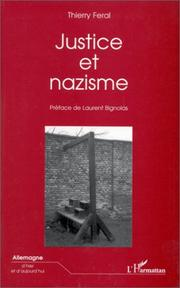 Cover of: Justice et nazisme