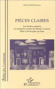 Cover of: Pièces claires