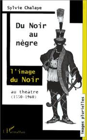 Cover of: Du noir au nègre
