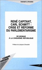 Cover of: René Capitant, Carl Schmitt