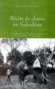 Cover of: Récits de chasse en Indochine