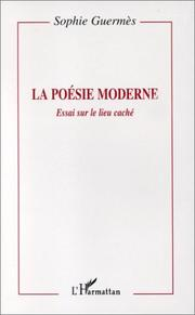 Cover of: La poésie moderne