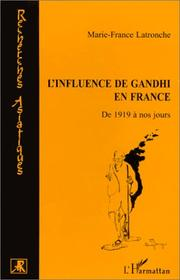 Cover of: L' influence de Gandhi en France