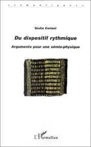 Cover of: Du dispositif rythmique