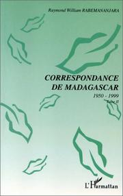 Cover of: Correspondance de Madagascar