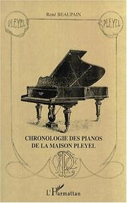 Cover of: Chronologie des pianos de la maison Pleyel