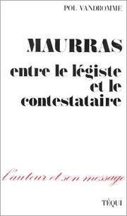 Cover of: Maurras