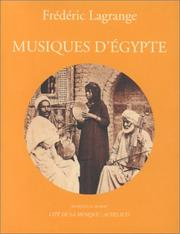 Cover of: Musiques d'Egypte