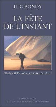 Cover of: La fête de l'instant