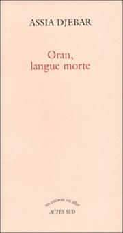 Cover of: Oran, langue morte