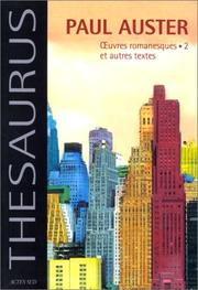 Cover of: Oeuvres romanesques et Autres textes, tome 2