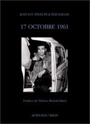 Cover of: 17 octobre 1961