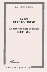 Cover of: La loi et le bourreau