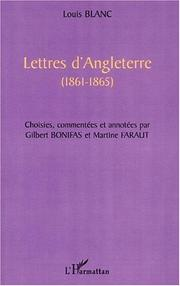 Cover of: Lettres d'Angleterre