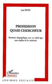 Cover of: Profession quasi-chercheur