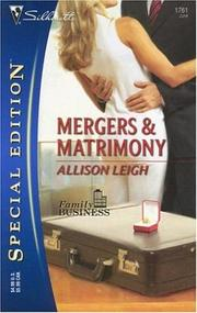 Cover of: Mergers & Matrimony