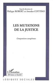 Cover of: Les mutations de la justice